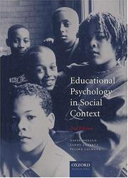 Cover of: Educational Psychology in Social Context | D. R. Donald
