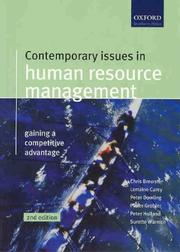 Cover of: Contemporary Issues in Human Resource Management | Chris Brewster