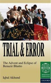 Cover of: Trial and error | Iqbal Akhund