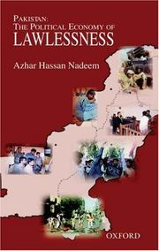"Cover of: Pakistan the political economy of lawlessness | Sayyid AzМЈhar HМЈasan NadiМ""m"