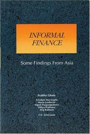 Cover of: Informal Finance: Some Findings from Asia (Asian Development Bank Book)