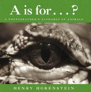 Cover of: A is for-- ?