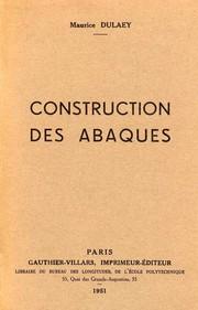 Construction des abaques.
