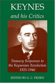 Cover of: Keynes and his critics |