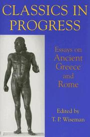 Cover of: Classics in Progress
