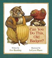 Cover of: Can You Do This, Old Badger?: un cuento