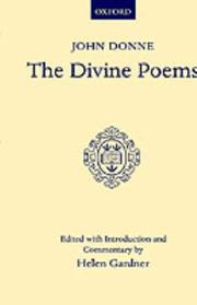 Cover of: The divine poems