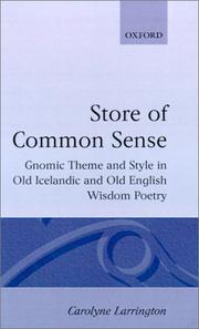 Cover of: A store of common sense