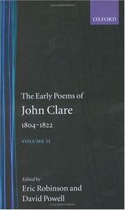 Cover of: The early poems of John Clare, 1804-1822