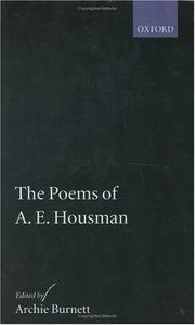 Cover of: The poems of A.E. Housman