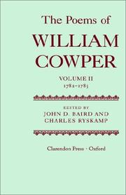 Cover of: The Poems of William Cowper: Volume II: 1782-1785 (Cowper, William//Poems of William Cowper)