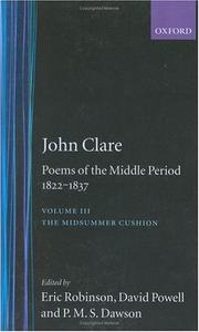 Cover of: Poems of the Middle Period