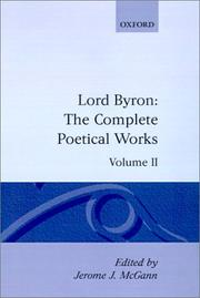 Cover of: The Complete Poetical Works: Volume II