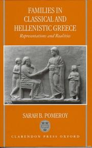Cover of: Families in classical and Hellenistic Greece | Sarah B. Pomeroy