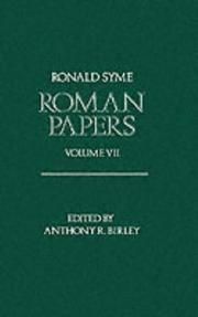 Cover of: Roman Papers | Ronald Syme