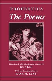 Cover of: poems | Sextus Propertius