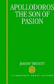 Cover of: Apollodoros, the son of Pasion | Jeremy Trevett