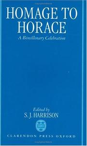 Cover of: Homage to Horace | S. J. Harrison