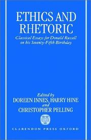 Cover of: Ethics and rhetoric |