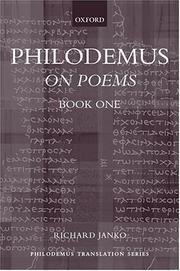 Cover of: On poems | Philodemus
