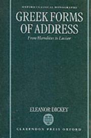 Cover of: Greek forms of address