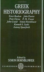 Cover of: Greek Historiography