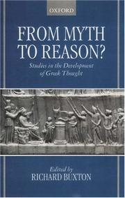 Cover of: From Myth to Reason? | Richard Buxton