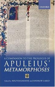 Cover of: A companion to the Prologue of Apuleius' Metamorphoses |