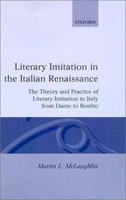 Cover of: Literary imitation in the Italian Renaissance