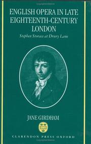 Cover of: English opera in late eighteenth-century London