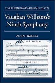 Cover of: Vaughan Williams