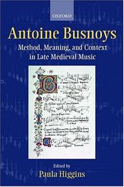 Cover of: Antoine Busnoys |