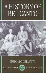 Storia del belcanto by Rodolfo Celletti