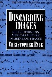 Cover of: Discarding images | Page, Christopher