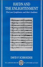 Cover of: Haydn and the enlightenment: the late symphonies and their audience