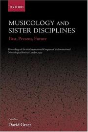Cover of: Musicology and sister disciplines