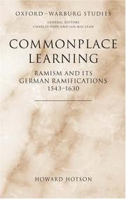 Cover of: Commonplace Learning
