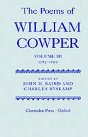 Cover of: The Poems of William Cowper: Volume III: 1785-1800 (Cowper, William//Poems of William Cowper)