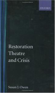 Cover of: Restoration theatre and crisis