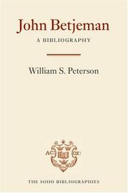 Cover of: John Betjeman | William S. Peterson