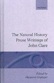 Cover of: The Natural History Prose Writings, 1793-1864 (Oxford English Texts)