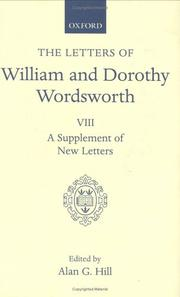 Cover of: The letters of William and Dorothy Wordsworth