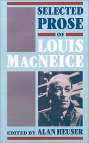 Cover of: Selected prose of Louis MacNeice