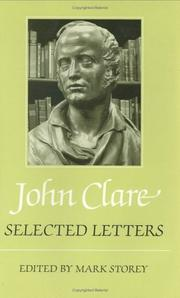 Cover of: John Clare, selected letters