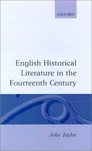 Cover of: English historical literature in the fourteenth century