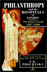 Cover of: Philanthropy and the hospitals of London