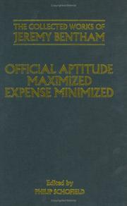 Cover of: Official aptitude maximized, expense minimized: as shewn in the several papers comprised in this volume