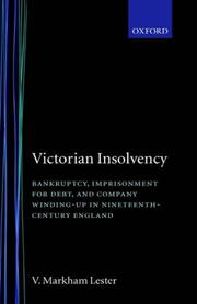 Cover of: Victorian insolvency