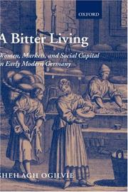Cover of: bitter living | Sheilagh C. Ogilvie