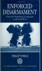 Cover of: Enforced disarmament | Philip Towle